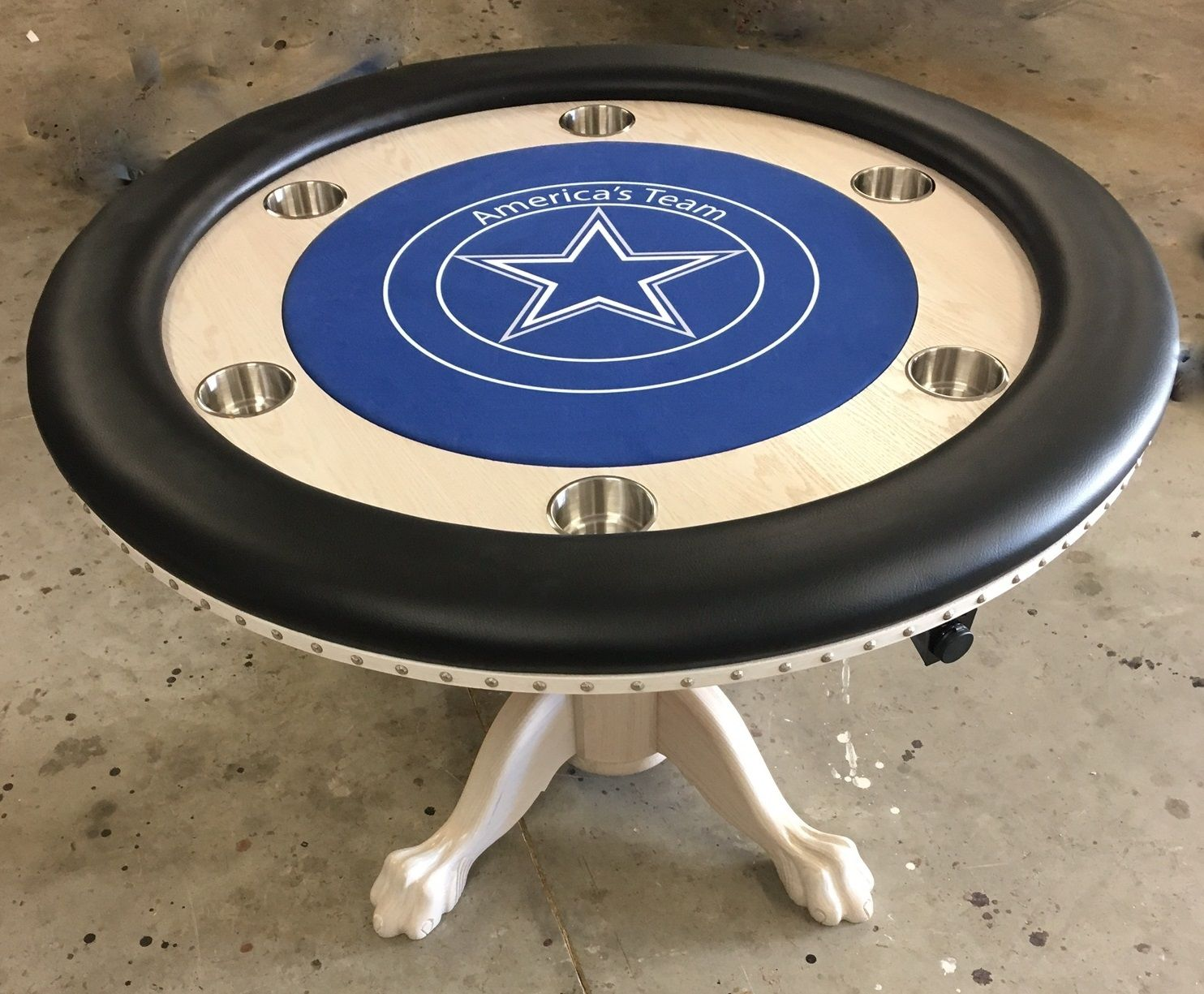 Dallas Cowboys Custom Poker Table Poker Table For Sale Round Poker Table Custom Poker Tables