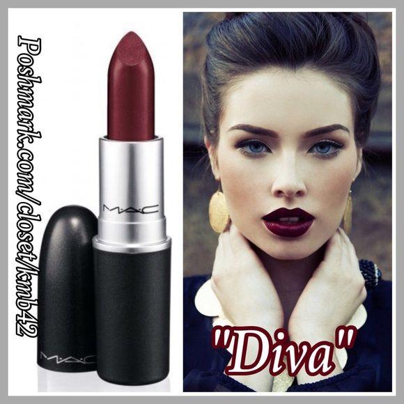 Authentic mac matte lipstick diva boutique my posh - Mac diva lipstick price ...