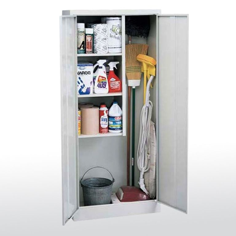 Superb Janitorial Storage Cabinet   Storage For Brooms, Mops, Etc.