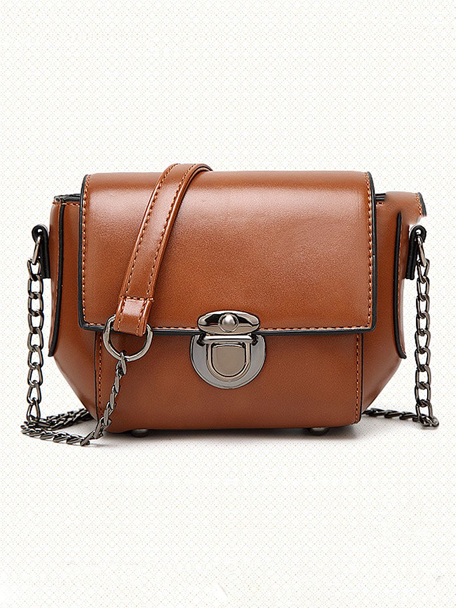 8bc627456df0 PU Plain Chain Shoulder Bags - CheapClothingCity.com  21.95 plain   shoulderbags