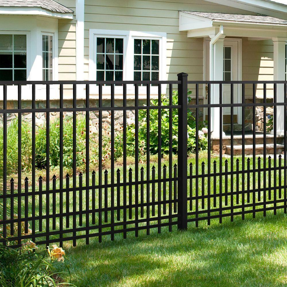 Mainstreet Aluminum Fence 3 4 In X 2 Ft X 6 Ft Aluminum Black