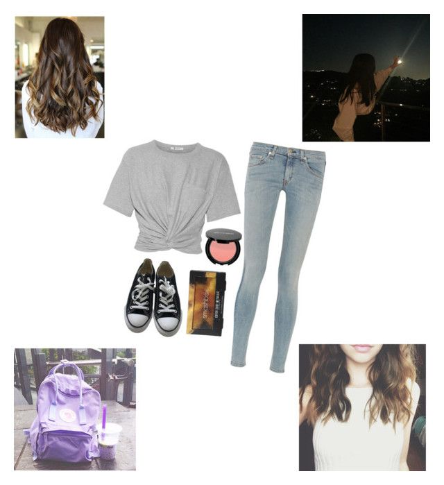 """""""How was your day?"""" by liv-on-polyvore ❤ liked on Polyvore featuring T By Alexander Wang, rag & bone, Converse and Smashbox"""