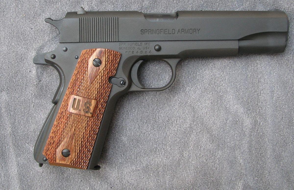 Springfield Armory Mil-Spec 1911 in  45 ACP, a no-nonsense