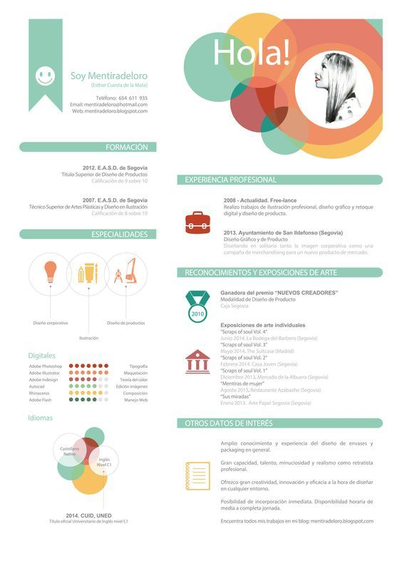 ejemplo de curriculum creativo by mentiradeloro   u2026