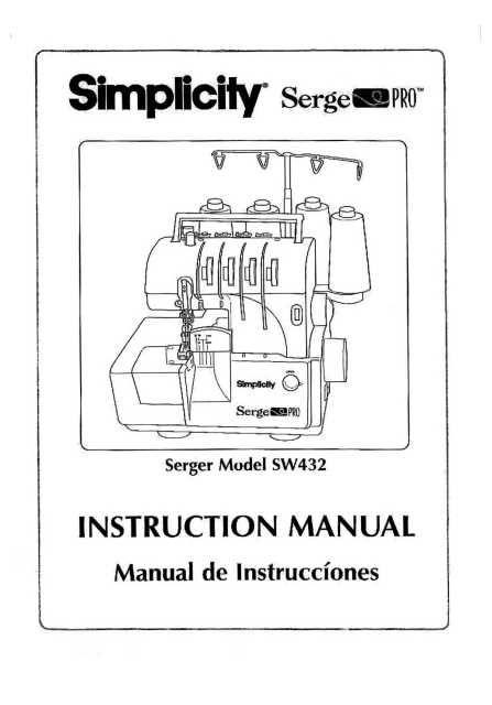 Simplicity SW432 Serge Pro Sewing Machine Instruction