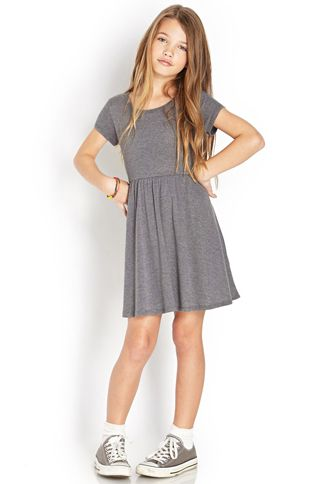 Heathered Babydoll Dress (Kids) | FOREVER21 girls - 2000089369
