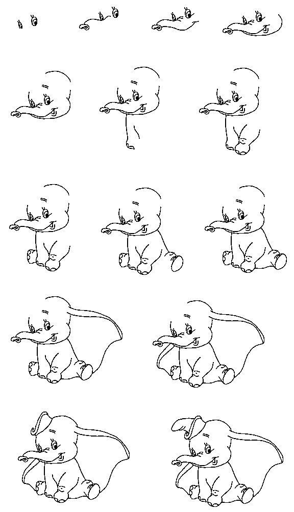 Tuto Dimbo Dessin Dumbo Dessins Faciles Dessins Disney Faciles
