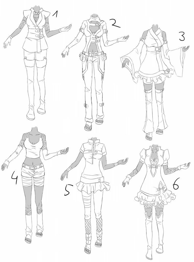 Outfit Set 6 Cute Ninja By Kohane Chan On Deviantart Manga Clothes Drawing Clothes Drawings