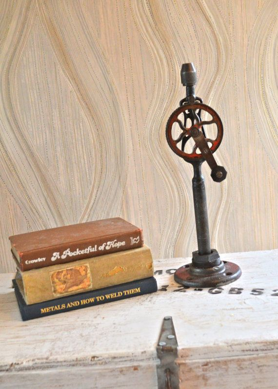Moving gear table art decor home accent decoration industrial steampunk rustic