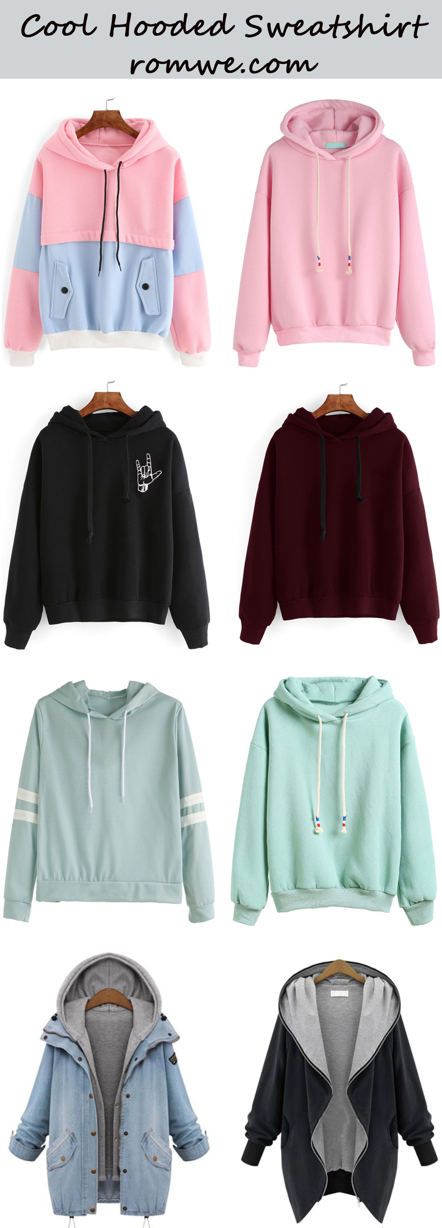 cool hooded sweatshirts from f pinterest kleidung mode f r teenager und. Black Bedroom Furniture Sets. Home Design Ideas