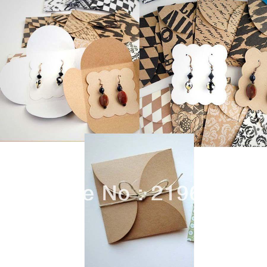 Diy Kraft Earring Packing Ard Earring Card Cover & Earring Card Hand Made  Earring Packing Custom