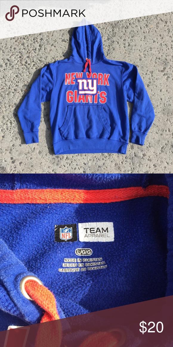 quality design b90e8 597d0 Blue NFL Team Apparel NY Giants Hoodie 9/10 Condition NFL ...