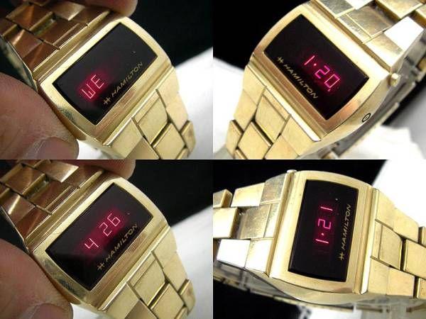 sale retailer 60ab9 3b732 レア 70's ハミルトン LED ビンテージ アンティーク_画像2 ...