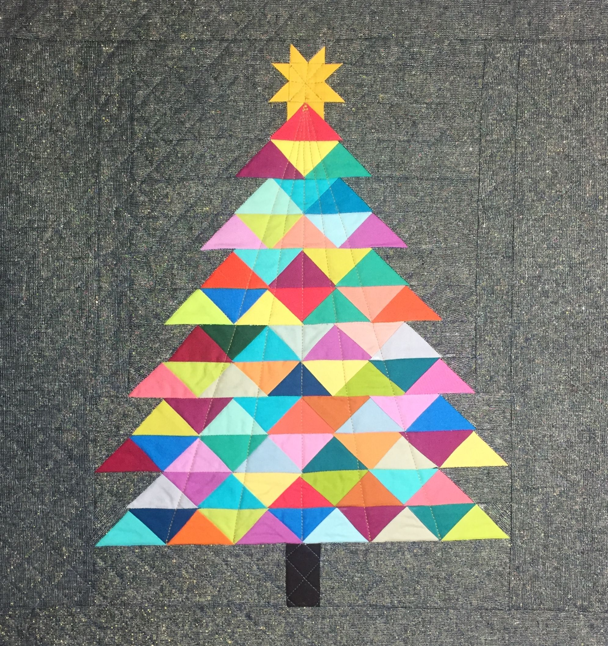My Colorful Christmas Tree Paper Pieced Pattern By Jitka Designs Christmas Quilts Colorful Christmas Tree Paper Piecing Patterns
