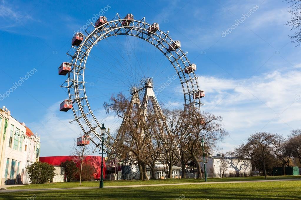 Wiener riesenrad famous ferris wheel in wien royalty free