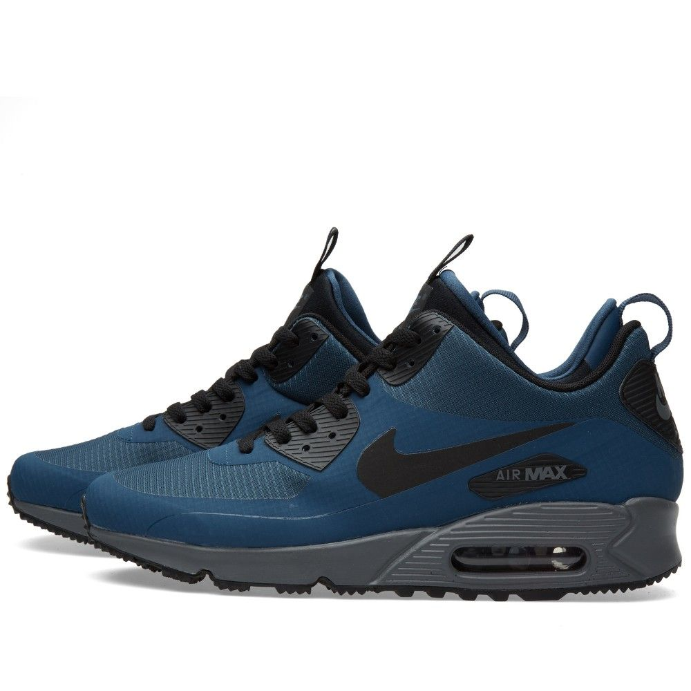 big sale 20622 ed1ae Nike Air Max 90 Mid Winter (Squadron Blue   Black)