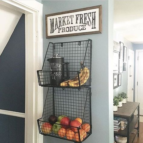 Isn't this such a cute way to display your produce? @theortizcasa we on rustic lighting, rustic italian kitchens, rustic home kitchens, rustic doors, rustic living rooms, rustic cottage kitchens, rustic galley kitchens, rustic country kitchens, rustic looking kitchens, rustic open kitchens, rustic cabinet hardware, rustic farmhouse kitchens, living rooms ideas, rustic interior design, rustic designer kitchens, rustic tin backsplash, rustic outdoor kitchens, rustic style,