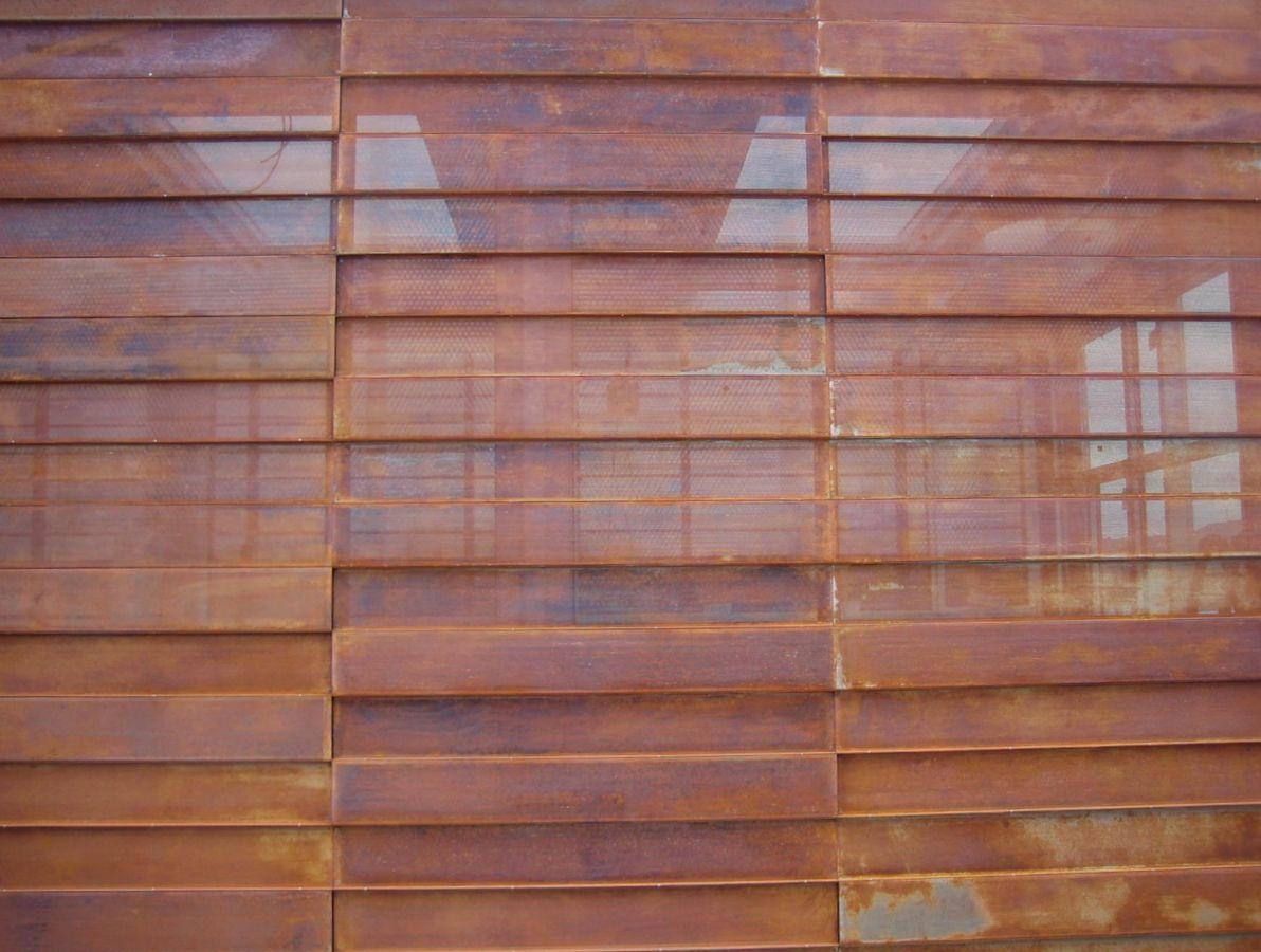 Fachada en acero corten perforado perforated corten for Fachada acero corten