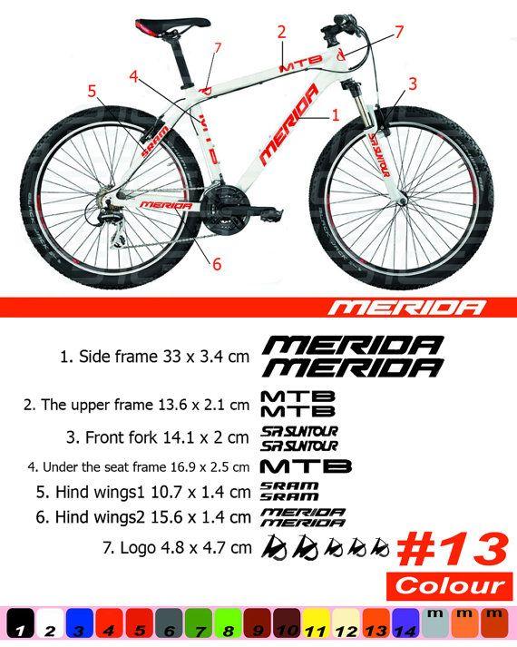 MERIDA Bike Frame Sticker/Autocollant Bicycle/Mountain/Restoration ...