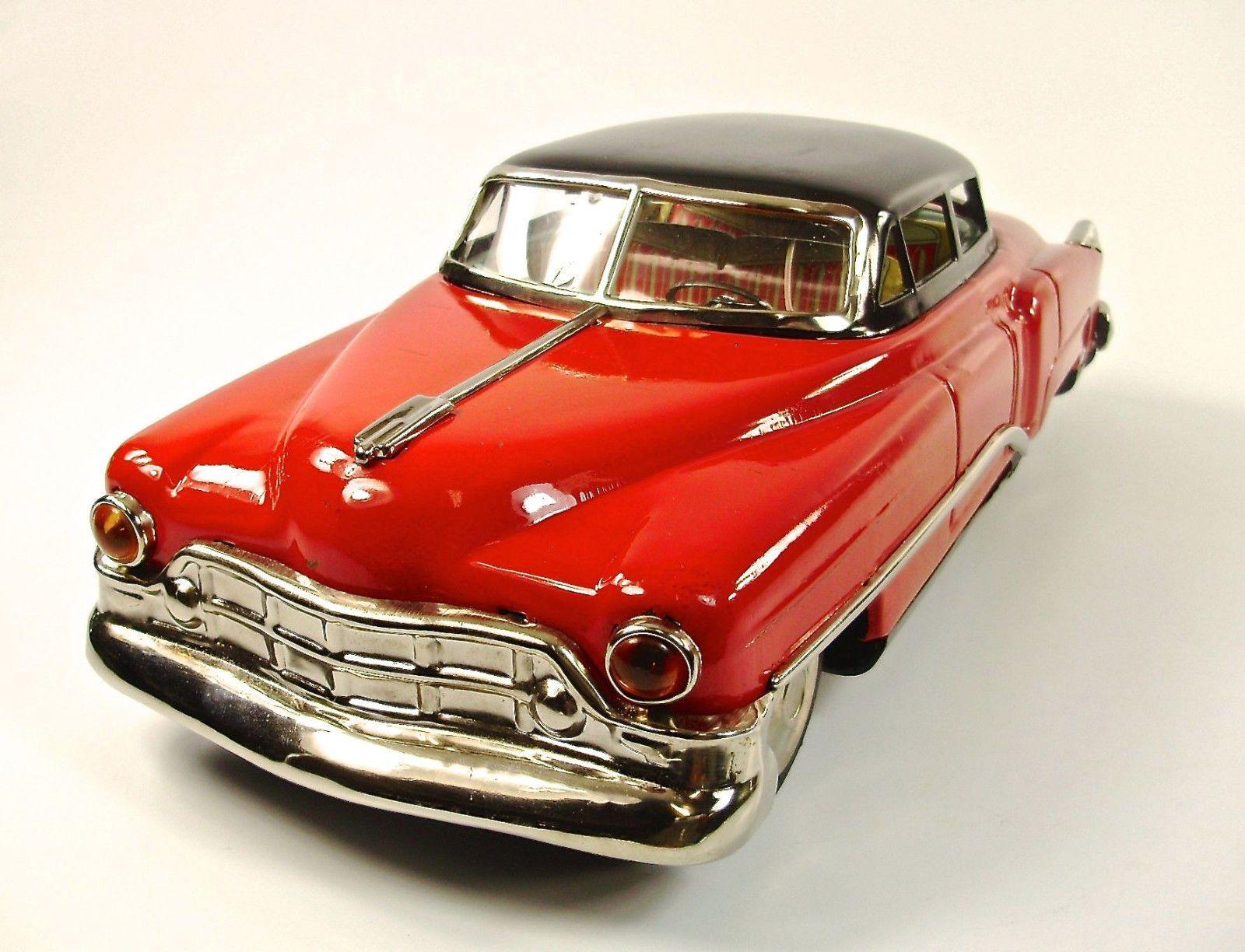 "1949 Cadillac 4 Door Sedan 13 5"" Japanese Tin Car by TN Toy Nomura"