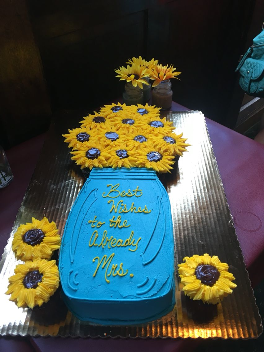 sunflower bridal shower cake