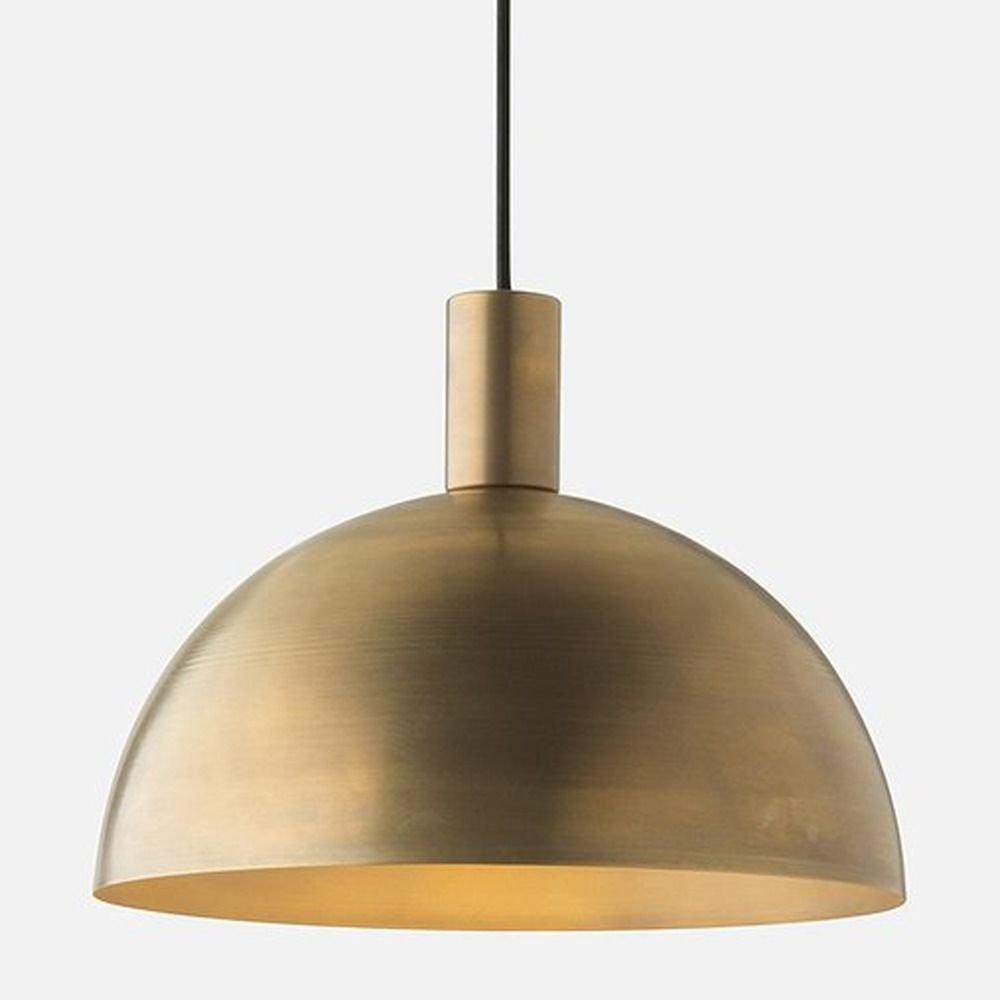 Schoolhouse electric schoolhouse electric shelby mod natural brass schoolhouse electric schoolhouse electric shelby mod natural brass pendant light with bowl dome shade 113426 arubaitofo Gallery