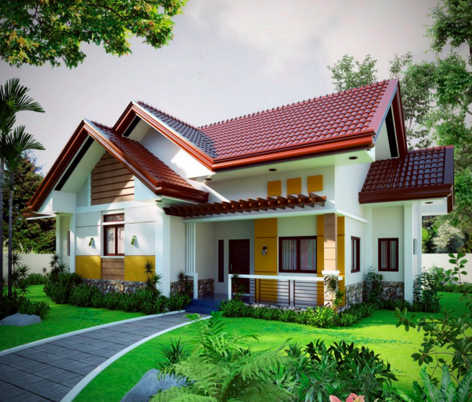 Cute Contemporary Home Design Part - 35: 20 Photos Of Small Beautiful And Cute Bungalow House Design Ideal For  Philippines. Contemporary Home ...
