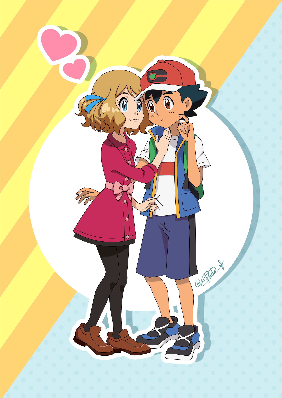 Pirika On Twitter Pokemon Ash And Serena Ash Pokemon Pokemon