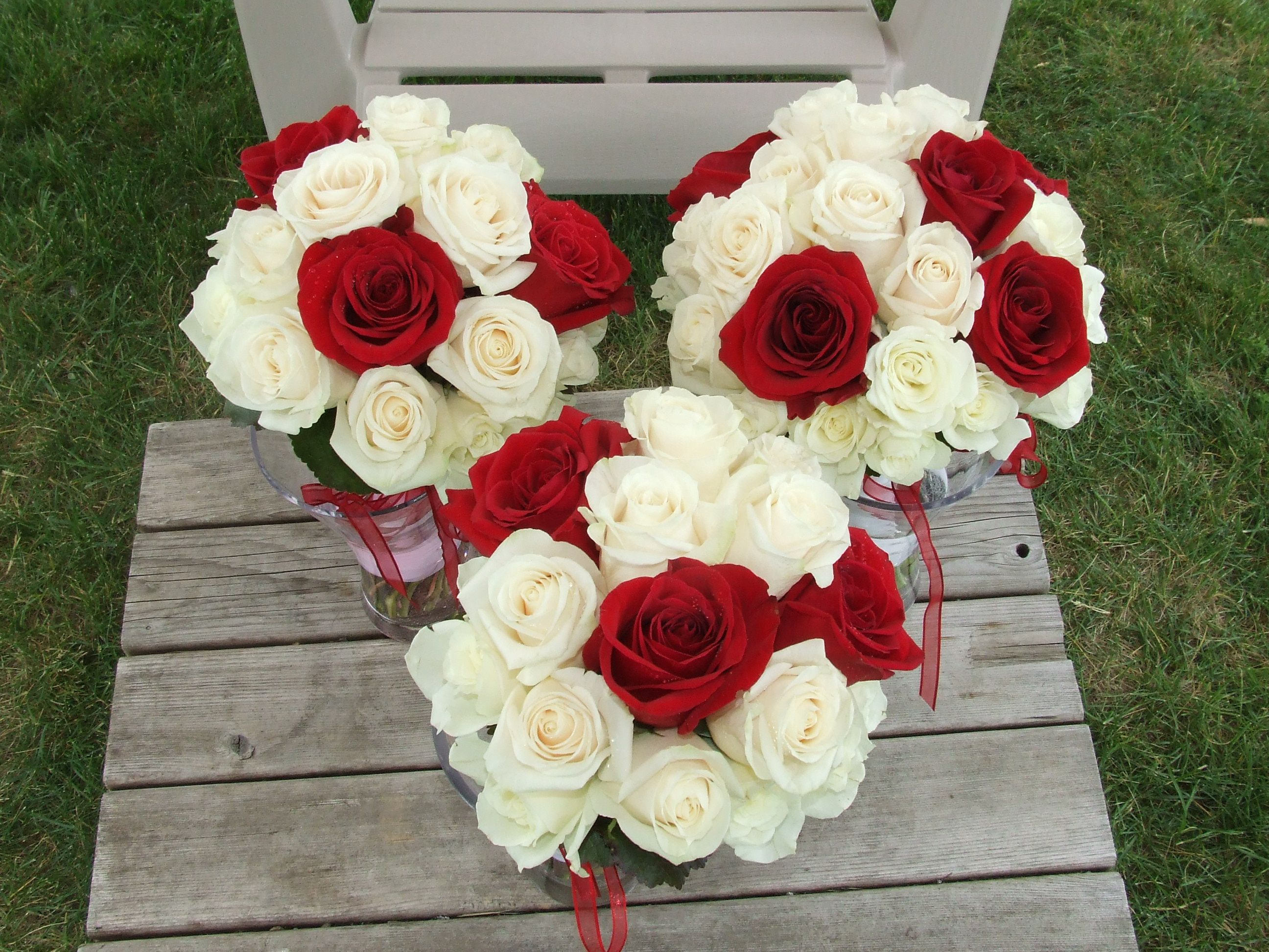 Bridal Bouquet Red Roses White Lily Google Zoeken