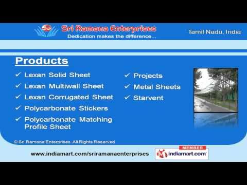 Sri Ramana Enterprises Is Leading Suppliers And Distributors Of Lexan Corrugated Sheet Polycarbonate Corr Reflective Insulation Insulation Materials Corrugated