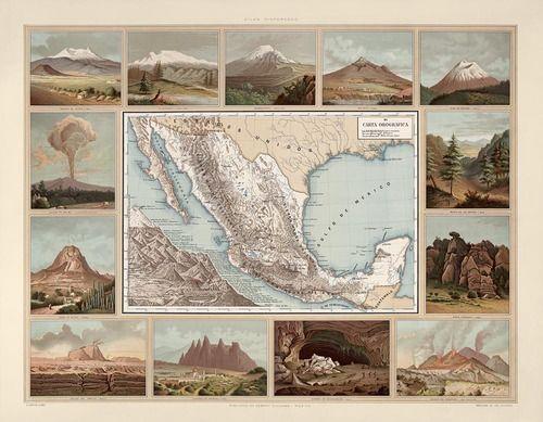 Carta Orografica de Mexico, 1885 {via ictidomys}