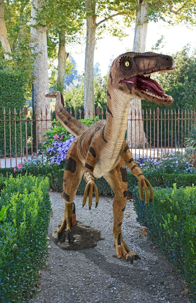 Life Size Velociraptor Statue Take My Paycheck The