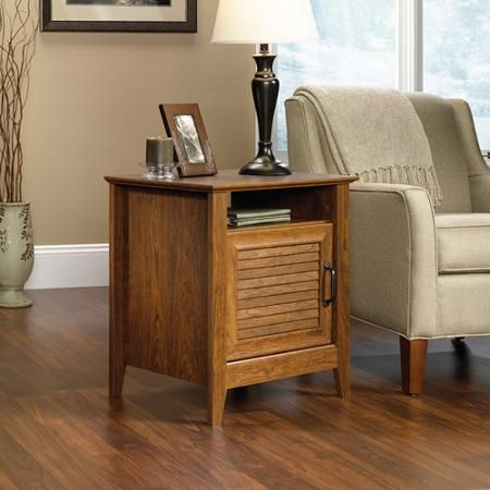 Sauder End Table, Milled Cherry
