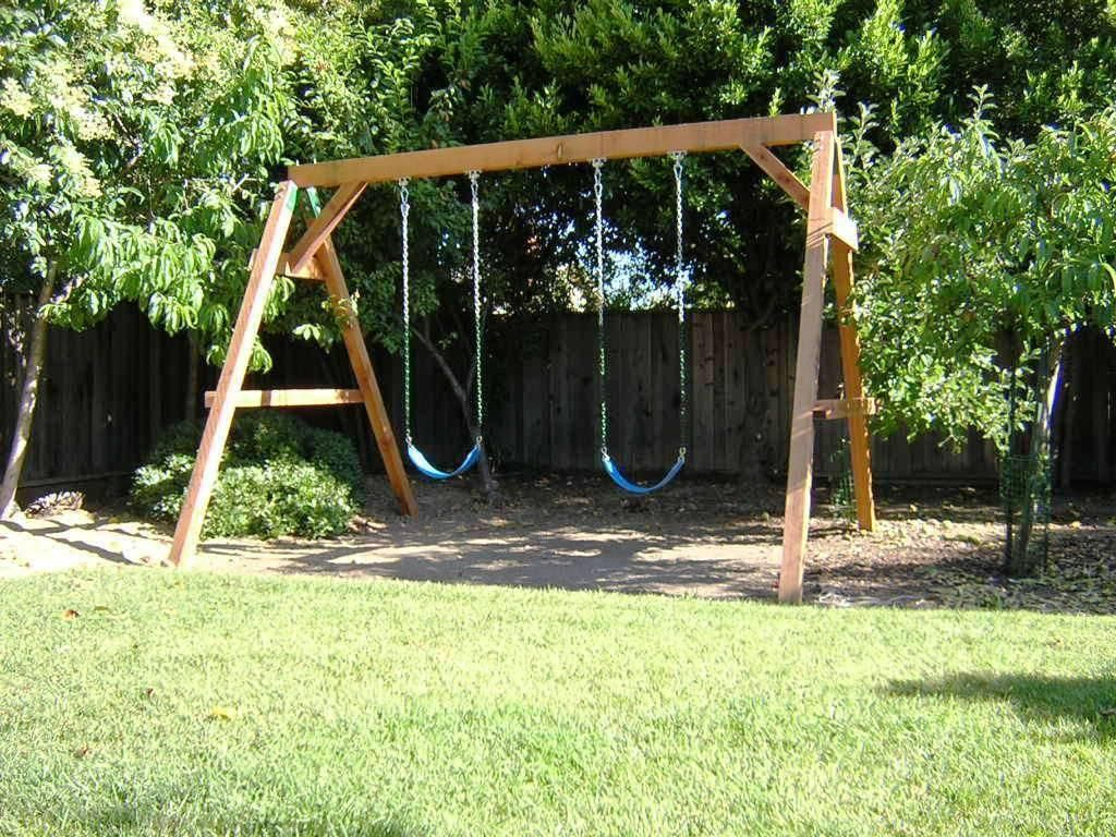 How to build a wooden swing set everything outdoors for Building a wooden swing
