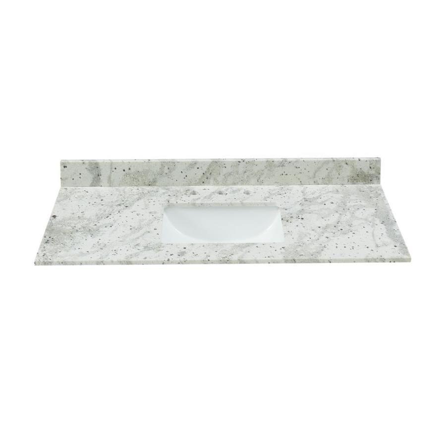 Bestview Glacier White Granite Undermount Single Sink Bathroom Vanity Top Common 4 White Granite Bathroom Glacier White Granite White Granite Bathroom Vanity