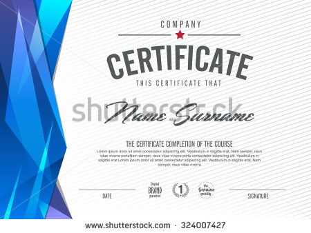 certificate template with clean and modern pattern Certificate - certificate designs templates