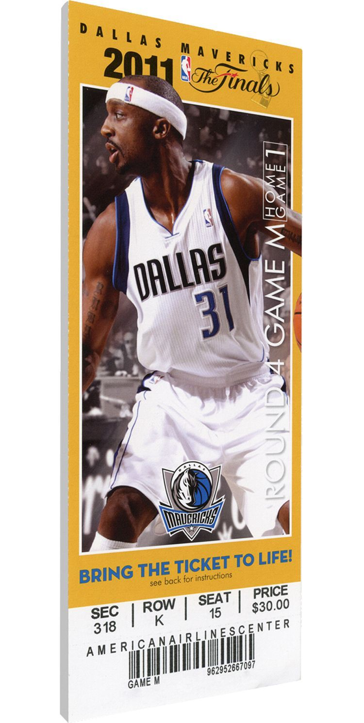 That S My Ticket Dallas Mavericks 2011 Nba Finals Game 3 Canvas Ticket Team 2011 Nba Finals Dallas Mavericks Nba Tickets