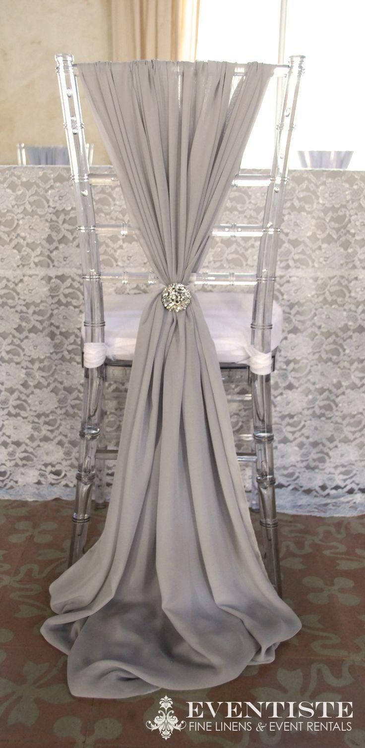 Wedding Chair Covers Long Crystal DIY Romantic Ivory Party Sash Decorations