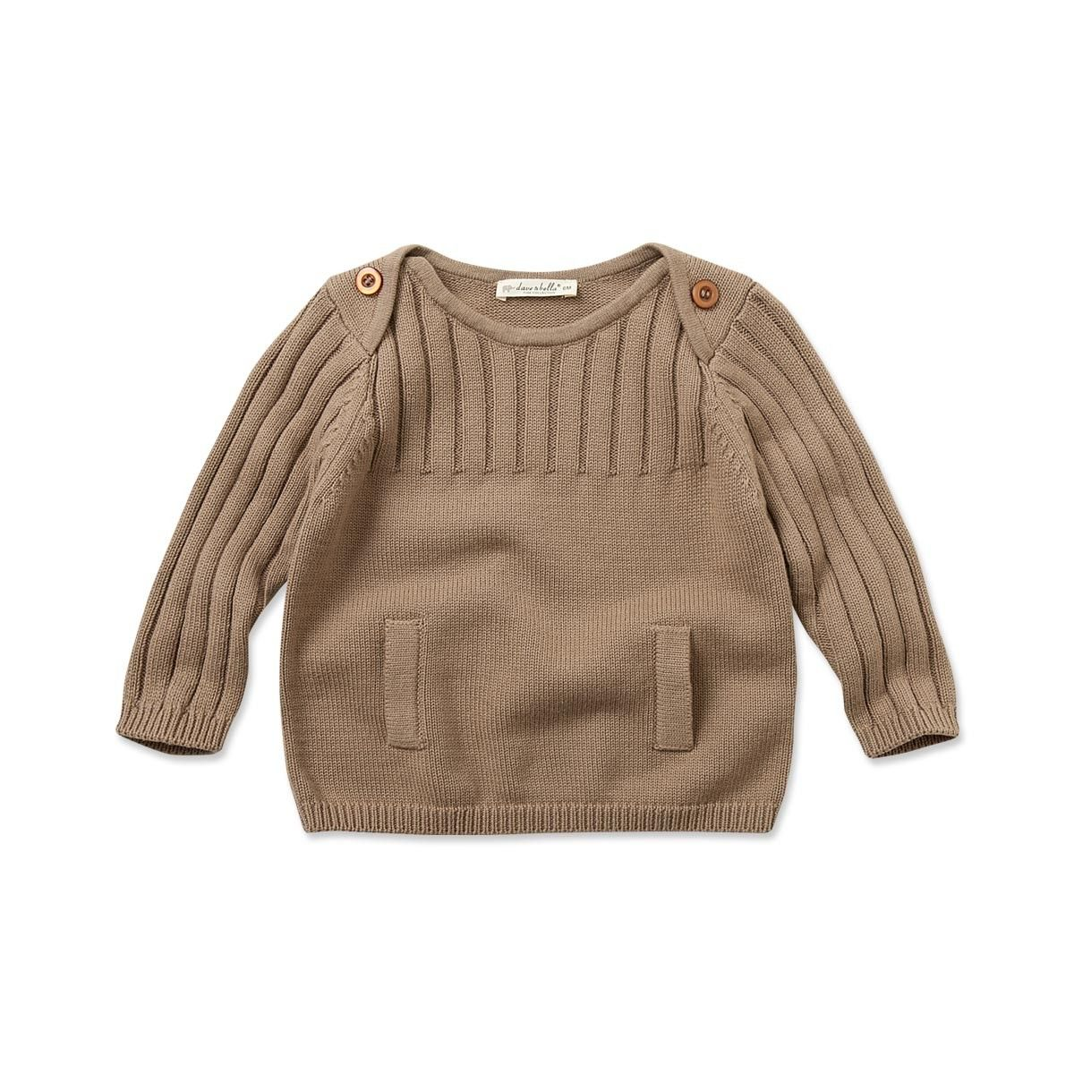 Knitted Cotton Sweater - Sweaters & Cardigans - Baby girls | Dave ...