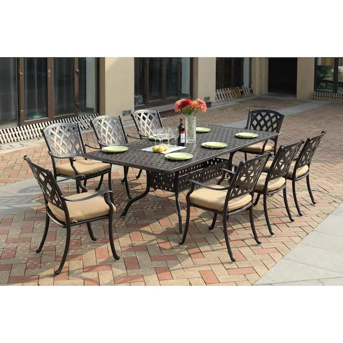 40++ Ocean view 9 piece dining set with cushion Trending