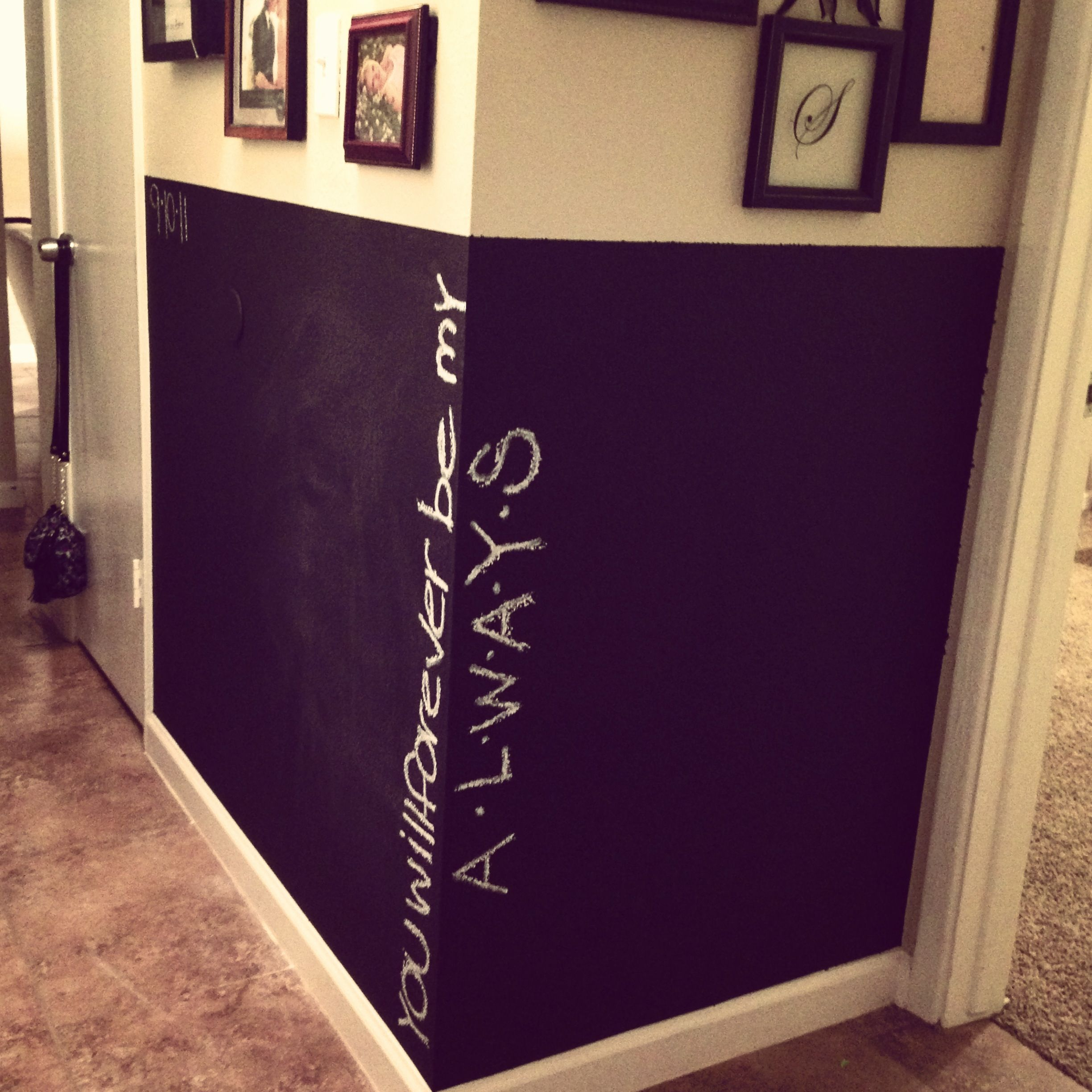 Chalkboard wall in hallway | Youth Ministry | Pinterest ...