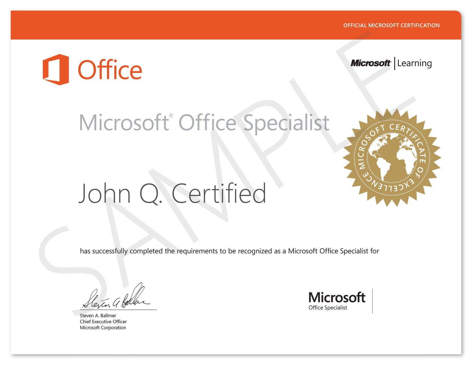 Microsoft Office Specialist (MOS) es la certificación oficial de ...