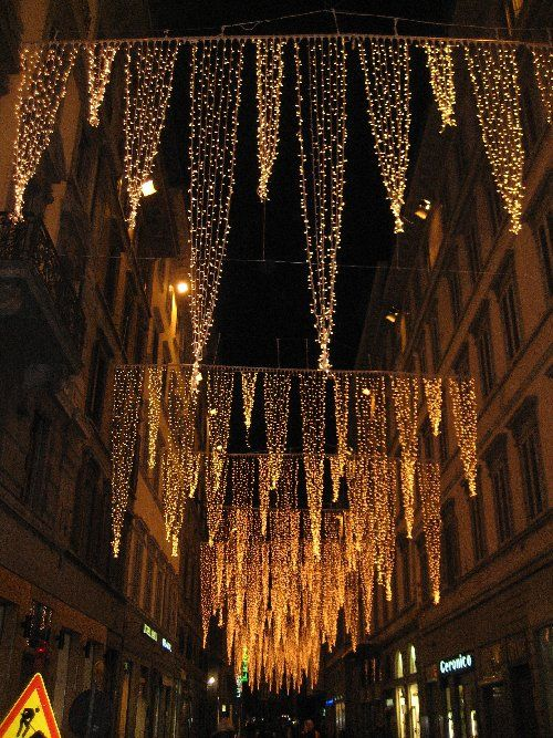Street Lighting Florence Italy Outdoor Christmas Lights Outdoor Christmas Christmas Light Displays