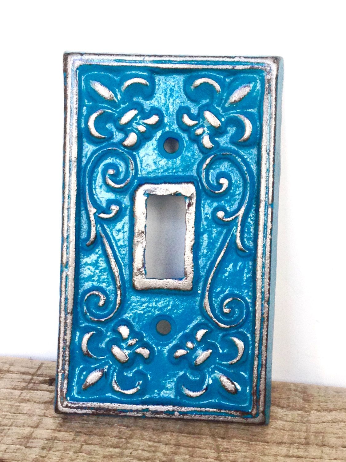Teal Wall Decor Teal Light Switchplate  Wall Accents  Light Switch Cover  Teal
