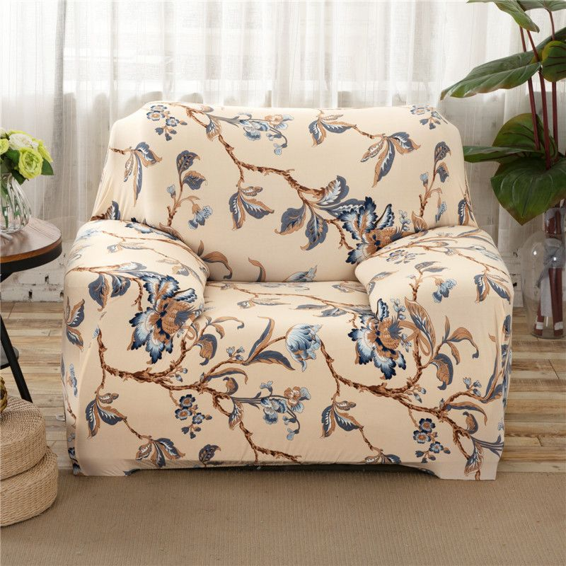 Sunnyrain Polyester Floral Sofa Cover Elastic L Shaped Sofa Cover Slipcover For Sectional Sofa Three Seat So Sofa Covers Sectional Sofa Slipcovers Printed Sofa