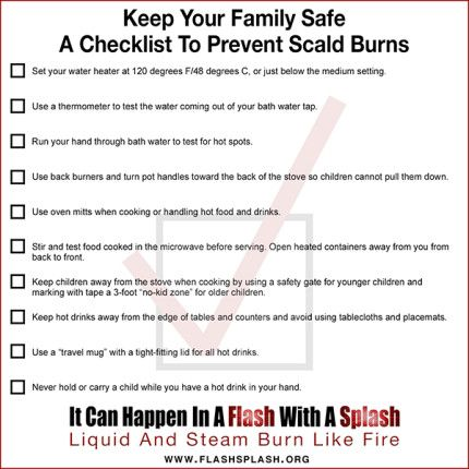 It Can Happen In A Flash With A Splash Infographics Infographic Burns Safety Tips