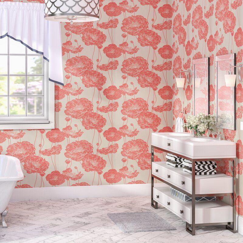 Scotty Peony Peel And Stick Wallpaper Panel Wallpaper Panels Peel And Stick Wallpaper Wallpaper