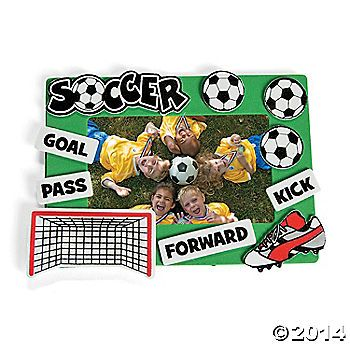 Soccer Picture Frame Craft Kit Picture Frame Crafts Frame Crafts Soccer Pictures
