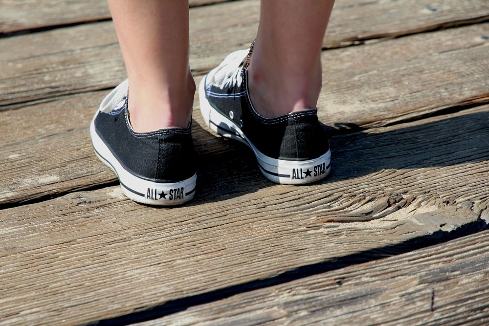 Classy black converse