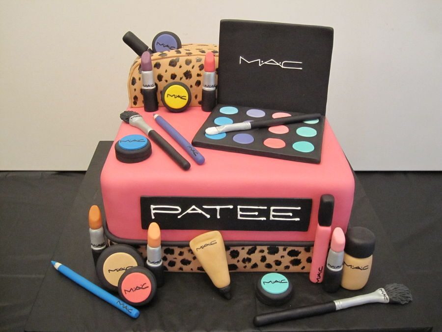 Mac Make Up Birthday Cake beauty Pinterest Birthday cakes